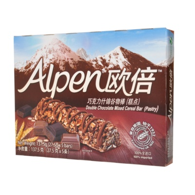 Alpen Double Chocolate Mixed Cereal Bar(Pastry) 137.5g