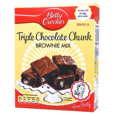Betty Crocker Triple Chocolate Chunk Brownie Mix Cake Powder 415g