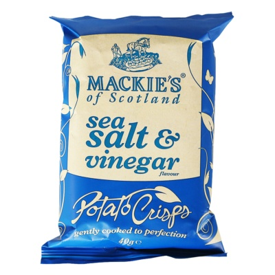 Mackie's Sea Salt&Vinegar Flavour Potato Chips 40g