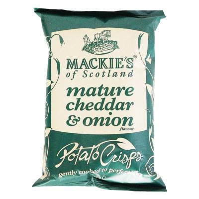 Mackie's Mature Cheddar & Onion Flavour Potato Crisps 40g