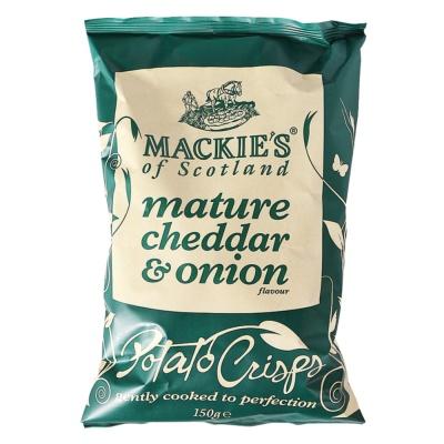 Mackie's Mature Cheddar&Onion Flavour Potato Chips 150g