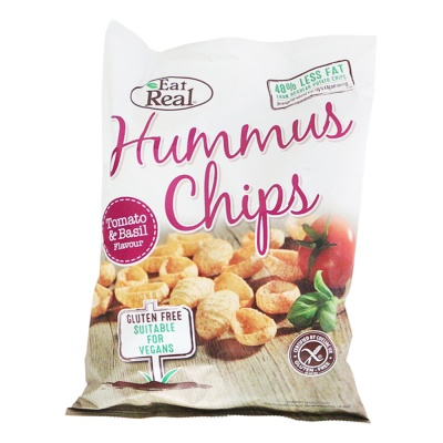 Eat Real Hummus Chips (Tomato & Basil Flavour) 135g
