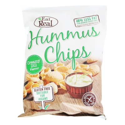 Eat Real Hummus Chips (Creamy Dill Flavour) 135g