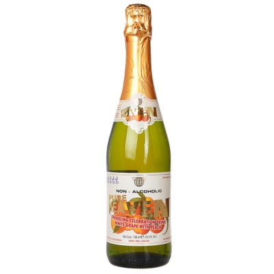 Pure Heaven Peach & White Grape Sparkling Drink 750ml