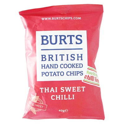 Burts British Hand Cooked Potato Chips(Thai Sweet Chili) 40g