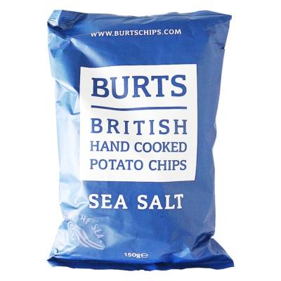 Burts British Hand Cooked Potato Chips(Sea Salt) 150g