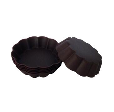法克曼6件装硅胶花形蛋糕模 689360