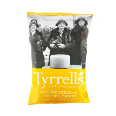 Tyrrell'S Potato Chips Mature Cheddar & Chives 150g