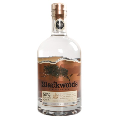 Blackwoods Vintage Dry Gin 60% 700ml