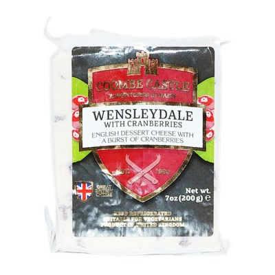 Coombe Castle Wensleydale With Cranberries 200g