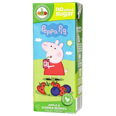 Appy Kids Co Peppa Pig Apple&Summer Berries Fruit Drink 200ml