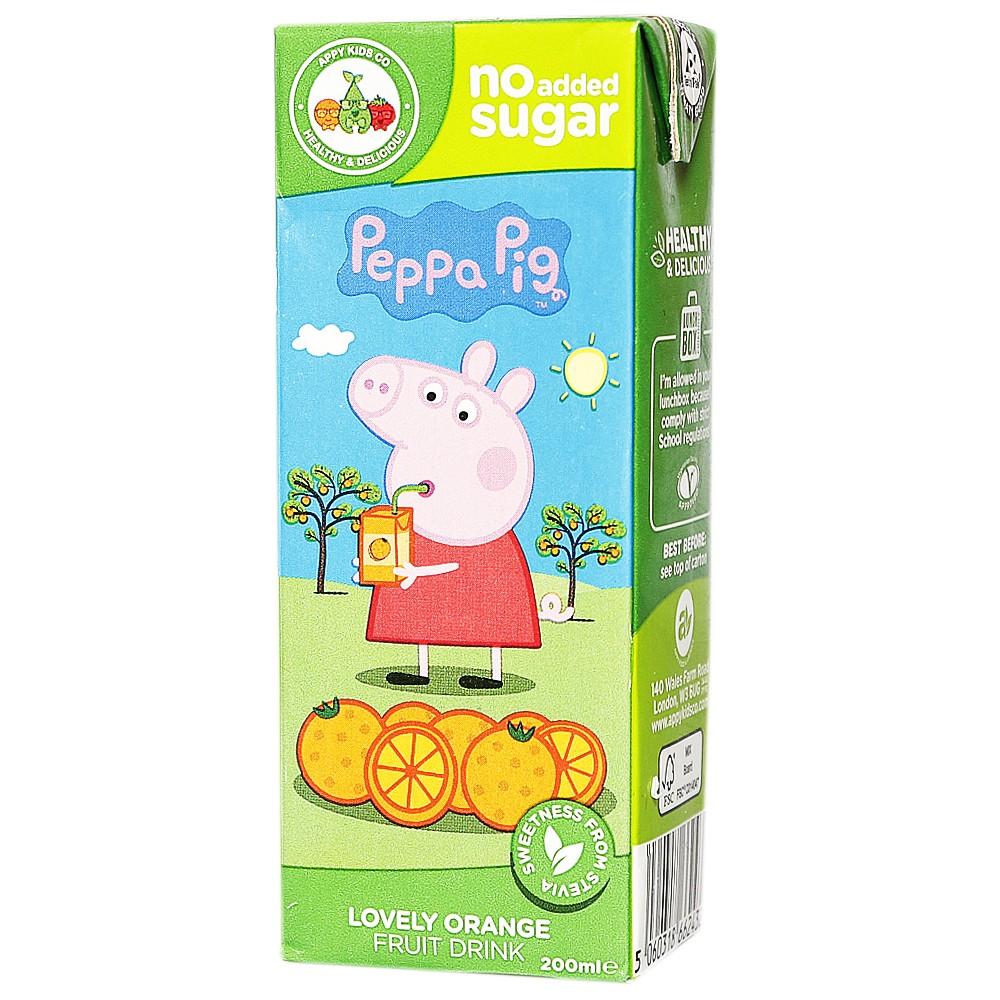 Appy Kids Co Peppa Pig Lovely Orange Fruit Drink 200ml