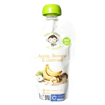 Little Freddie Apple,Banana&Oatmeal Sauce 120g