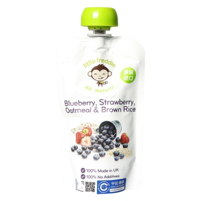 Little Freddie Blueberry,Strawberry,Oatmel&Brown Rice Sauce 120g