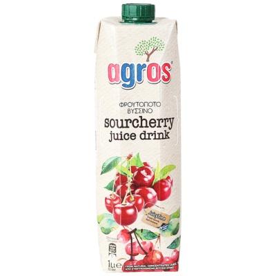 Agros Sour Cherry Juice Drink 1L