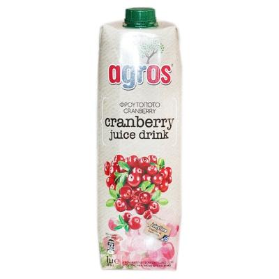 Agros Cranberry Juice Drink 1L