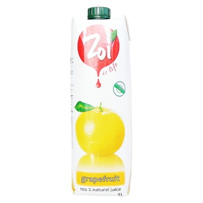 Zol Grapefruit Fruit Juice Drink 100% 1L