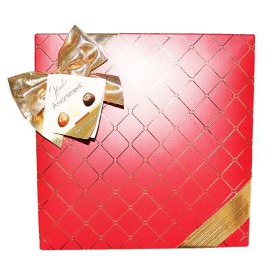 哈姆雷特卡罗尔黄金线红底金缎礼盒装巧克力250g
