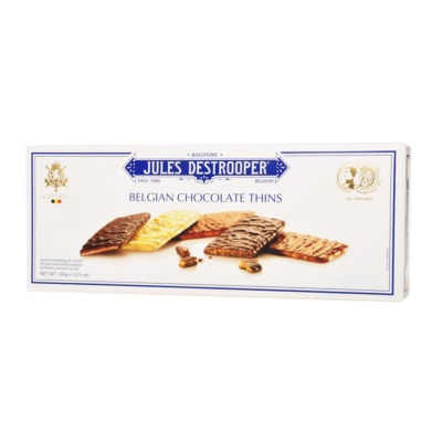 Jules Destrooper Chocolate Thins Biscuits 100g