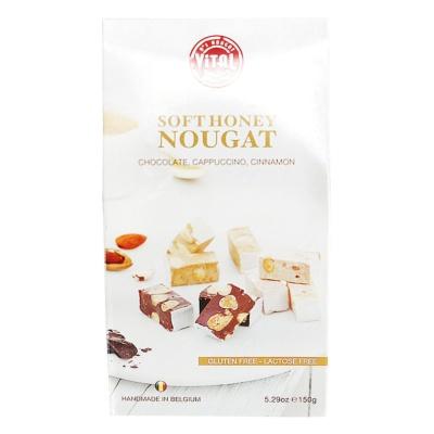 Vital Soft Honey Nougat(Chocolate,Cappuccino,Cinnamon) 150g