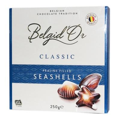 Belgid'Or Classic Praline Filled Seashells Chocolate 250g