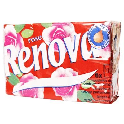 Renova Handkerchief Paper(Rose) 6*9pcs