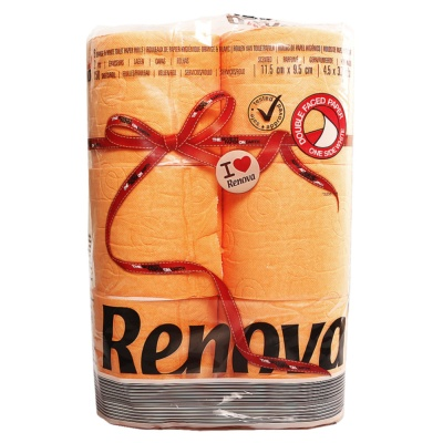 Renova Toilet Paper Roll Orange 6rolls