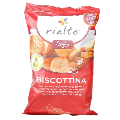 Rialto Round Biscottinas Chili Spicy 100g