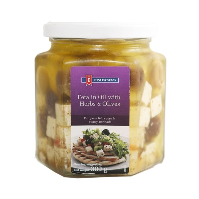 Emborg Feta In Oil With Olives And Herbs 300g