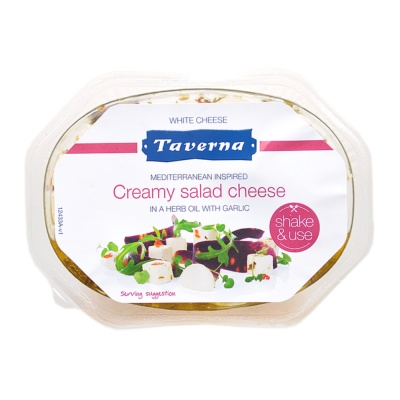 Taverna Creamy Salad Cheese In A Herb Oil With Garlic 100g