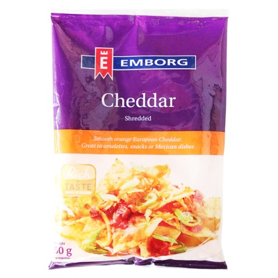 Emborg Natural Shredded Cheddar 150g