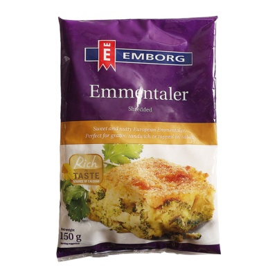 Emborg Natural Shredded Emmental 150g