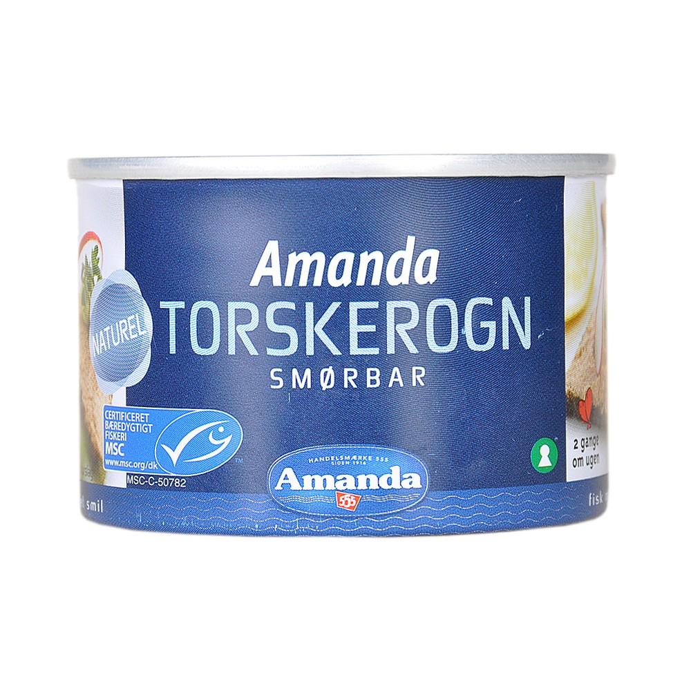 Amanda Natural Torskerogn 190g