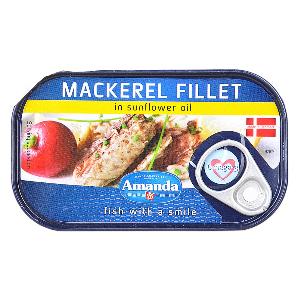 Amanda Mackerel Fillet in Sunflower Oil 125g