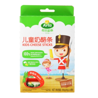 Arla Kids Cheese Sticks (Strawberry) 108g