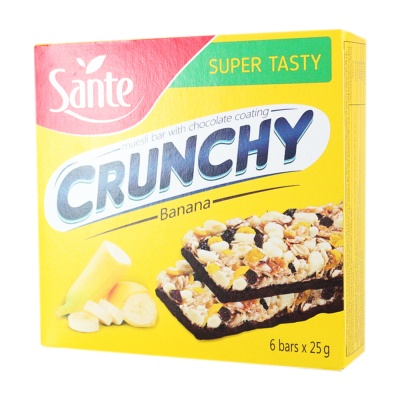 Sante Banana Chocolate Muesli Bar 150g