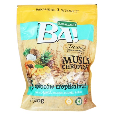 Bakalland Tropical Fruits Mixed Oatmeal 300g