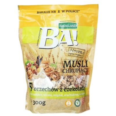 Bakalland Chocolate Nuts Mixed Oatmeal 300g