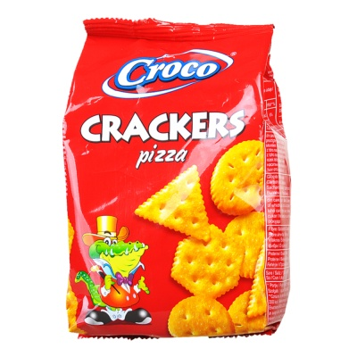 Croco Pizza Flavored Crackers 100g