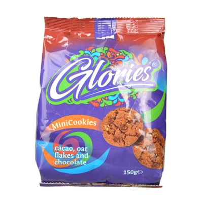 Glories Mini Cookies With Cacao 150g