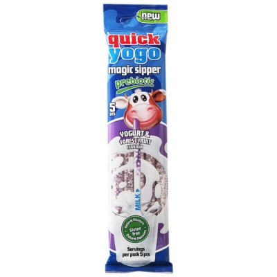 Quick Yogo Magic Sipper Yogurt&Forest Fruit Flavour 30g