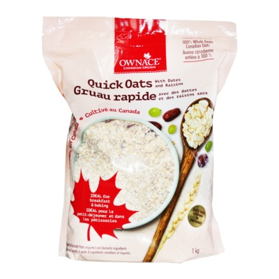 Ownace Quick Oats With Dates And Raisins 1kg