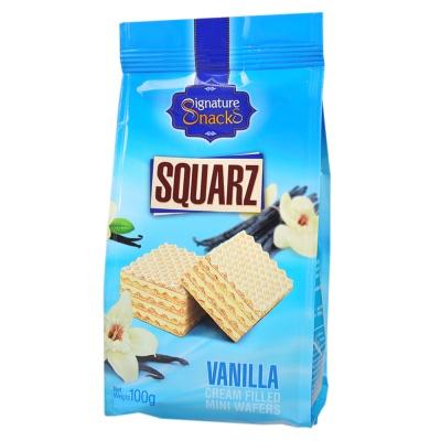 Signature Snacks Squarz Vanilla Cream Filled Mini Wafers 100g