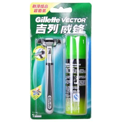 Gillette Vector 3 Shaver(Shaver&Foamy 50g)