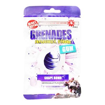 Grenades Grape Bomb Artificially Flavored Gum 60g