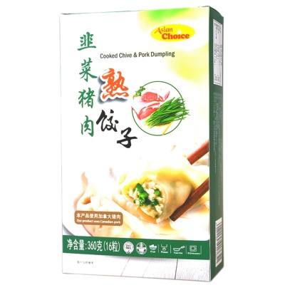 Asian Choice Cooked Chive & Pork Dumpling 360g