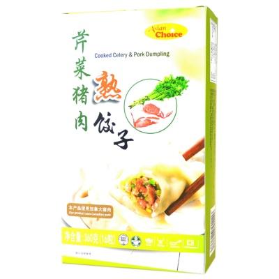 Asian Choice Cooked Celery & Pork Dumpling 360g