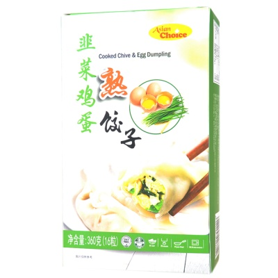 Asian Choice Cooked Chive & Egg Dumpling 360g