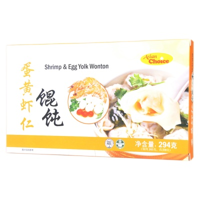 Asian Choice Shrimp & Egg Yolk Wonton 294g