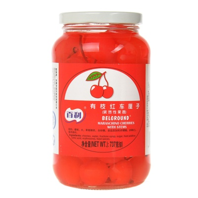 Berry Maraschino Cherries With Stems(red) 737g